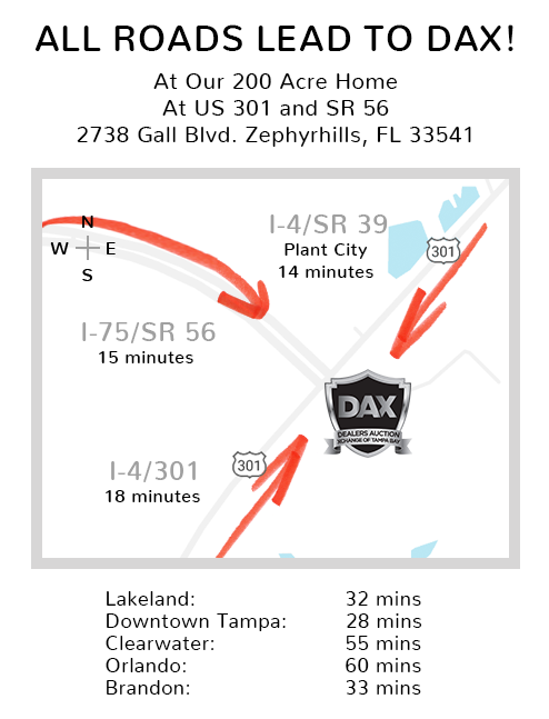 Map of roads that lead to DAX Auto